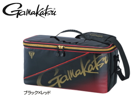 がまかつ ボックスバッグ GM-3581 ブラック×レッド (セール対象商品)