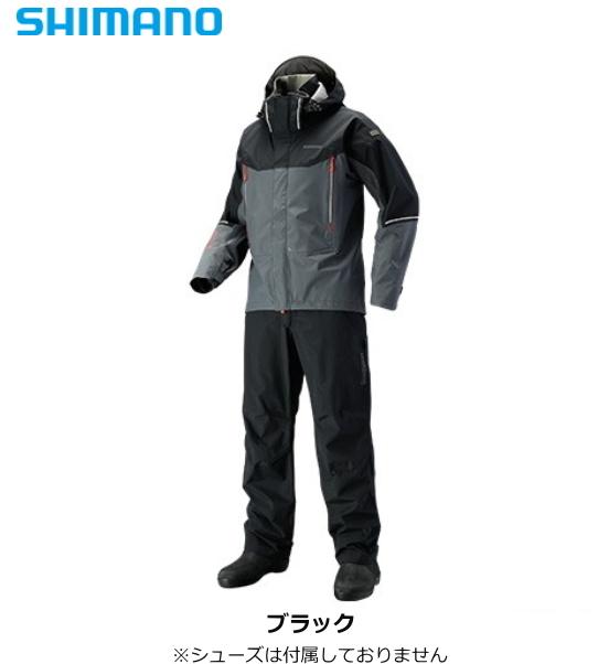シマノ DSアドバンススーツ RA-025S ブラック Lサイズ / レインスーツ (送料無料)