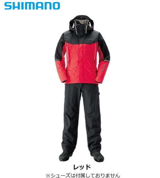 シマノ DSアドバンススーツ RA-025S レッド 2XLサイズ / レインスーツ (送料無料)