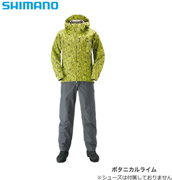 シマノ DSエクスプローラースーツ RA-024S ボタニカルライム Lサイズ / レインウエア (送料無料)