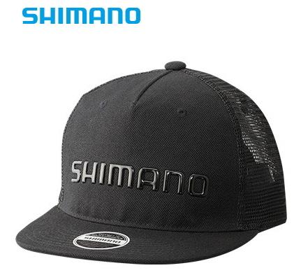 12:59まで) / (S01) シマノ ブラック メッシュキャップ / (O01) セール対象商品 (7/16(火) フラットブリム CA-092S フリーサイズ 帽子