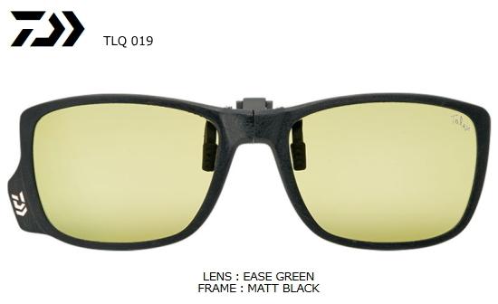 ダイワ TLQ 019 タレックス 偏光グラス (クリップタイプ) EASE GREEN (イーズグリーン) (O01) (D01) (送料無料) / セール対象商品 (12/26(木)12:59まで)