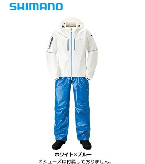 シマノ SS・3Dマリンスーツ RA-033R ホワイト×ブルー Lサイズ (送料無料) / セール対象商品 (12/26(木)12:59まで)
