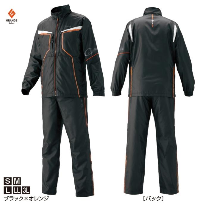 がまかつ ウィンドブレーカースーツ GM-3575 ブラック×オレンジ LLサイズ (お取り寄せ商品) (送料無料) / セール対象商品 (12/26(木)12:59まで)