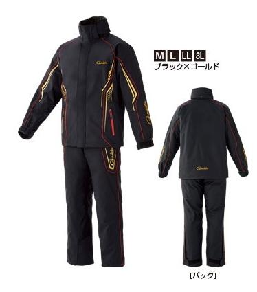 がまかつ オールウェザースーツ GM-3525 ブラック×ゴールド LLサイズ / レインウェア 防寒着 (お取り寄せ商品) (送料無料) / セール対象商品 (8/5(月)12:59まで)
