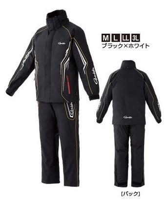 がまかつ オールウェザースーツ GM-3525 ブラック×ホワイト Lサイズ / レインウェア 防寒着 (お取り寄せ商品) 【送料無料】 (セール対象商品)