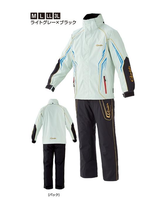がまかつ オールウェザースーツ GM-3525 ライトグレー×ブラック Mサイズ / レインウェア 防寒着 (お取り寄せ商品) 【送料無料】 (セール対象商品)