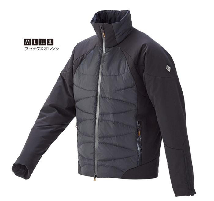 がまかつ ダウンジャケット GM-3532 ブラック×オレンジ LLサイズ 【送料無料】 【セール対象商品】