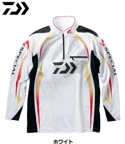ダイワ DE-70009 スペシャル アイスドライ(R) ジップアップ長袖メッシュシャツ ホワイト XL(LL)サイズ / ウエア (O01) (D01) (送料無料) / セール対象商品 (12/26(木)12:59まで)