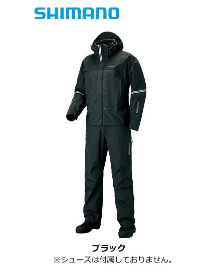 シマノ 19 DSアドバンスプロテクティブスーツ RT-025S ブラック Mサイズ / レインスーツ (送料無料) / セール対象商品 (12/26(木)12:59まで)