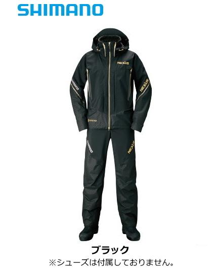 シマノ ネクサス (NEXUS) ゴアテックス プロテクティブスーツ EX RT-119S ブラック Lサイズ / レインスーツ (送料無料) / セール対象商品 (12/26(木)12:59まで)