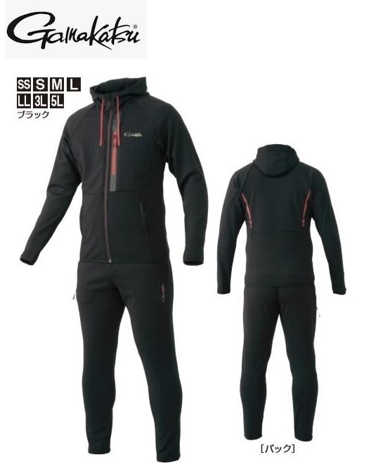 がまかつ スウェットスーツ GM-3590 ブラック LLサイズ (お取り寄せ商品) (送料無料) / セール対象商品 (12/26(木)12:59まで)