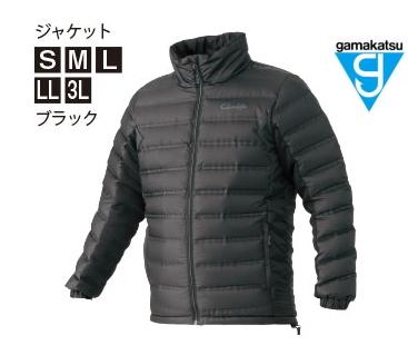 がまかつ ダウンジャケット GM-3605 ブラック Sサイズ / 防寒着 ウェア (お取り寄せ商品) (送料無料) / セール対象商品 (12/26(木)12:59まで)