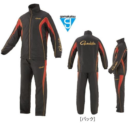 がまかつ トレーニングウォームスーツ GM-3608 ブラック×レッド Lサイズ / 防寒着 ウェア (お取り寄せ商品) (送料無料) / セール対象商品 (12/26(木)12:59まで)