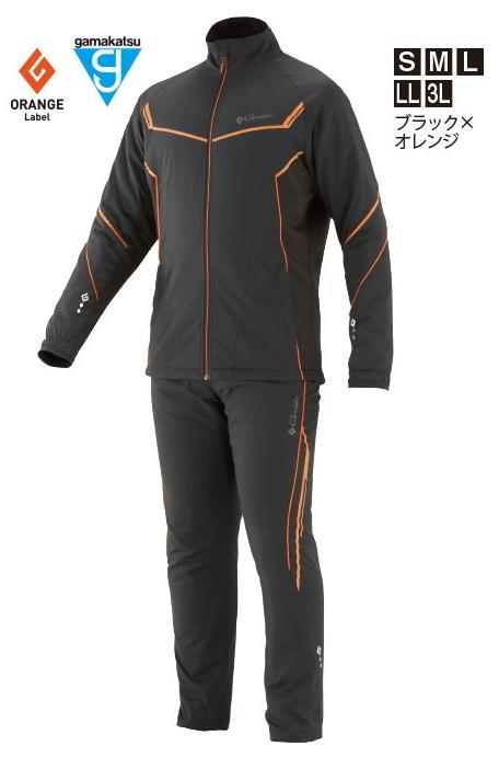 がまかつ トレーニングウォームスーツ GM-3613 ブラック×オレンジ 3Lサイズ / 防寒着 ウェア (お取り寄せ商品) (送料無料) / セール対象商品 28日(金) 12:59まで