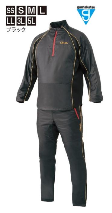 がまかつ ウォームピステスーツ GM-3599 ブラック Lサイズ / 防寒着 ウェア (お取り寄せ商品) (送料無料) / セール対象商品 (12/26(木)12:59まで)