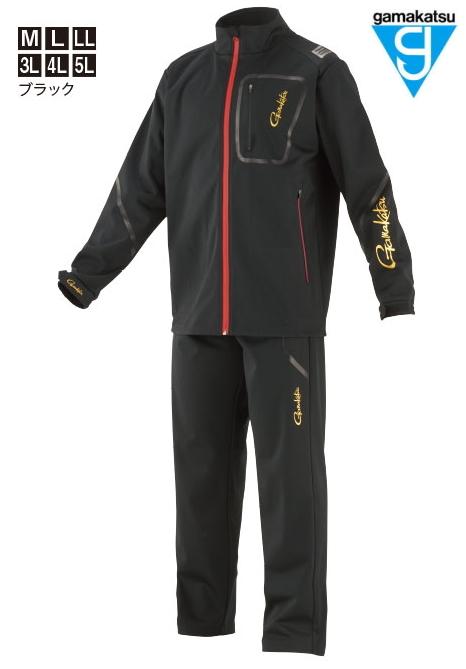 がまかつ ブリーズテックス (R) シェルスーツ GM-3618 ブラック 3Lサイズ / 防寒着 ウェア (お取り寄せ商品) (送料無料) / セール対象商品 (12/26(木)12:59まで)