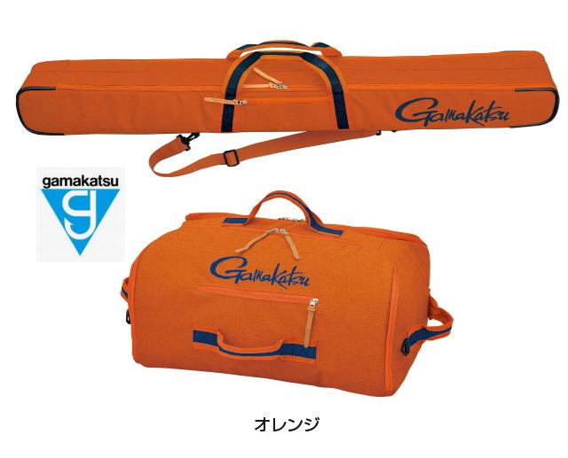 がまかつ ウルトラライトロッドケース (2層) / ウルトラライトバッグ (2層) ( ロッドケース、バッグセット) GC-281 オレンジ (お取り寄せ商品)