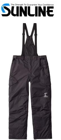 サンライン 防寒サロペットパンツ SUW-1211 ブラック Mサイズ / 防寒着 (お取り寄せ商品) / セール対象商品 28日(金) 12:59まで