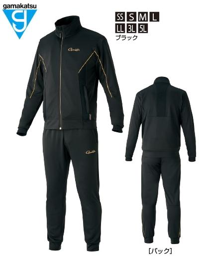 がまかつ ライトクールスウェットスーツ GM-3626 ブラック Sサイズ (送料無料)(お取り寄せ商品)