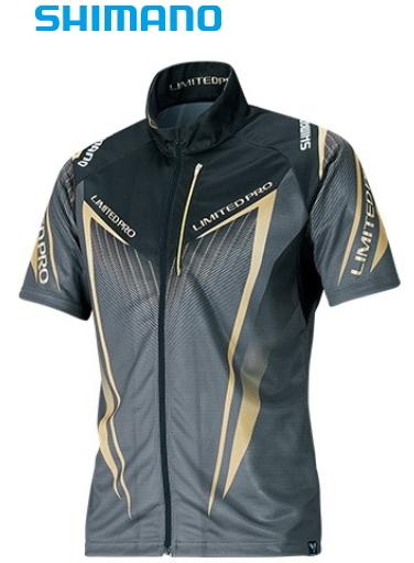 シマノ フルジップシャツ リミテッドプロ (半袖) SH-012S ブラック Lサイズ (S01) (O01) (送料無料) (セール対象商品)