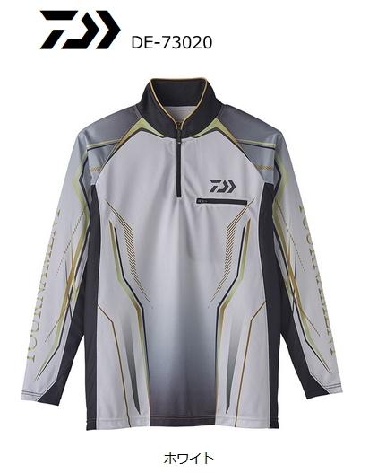 ダイワ トーナメント アイスドライ (R) ジップアップ メッシュシャツ DE-73020 ホワイト Mサイズ (D01) (O01) (送料無料) (セール対象商品)