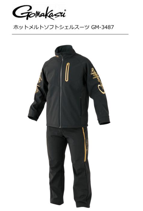 がまかつ ホットメルトソフトシェルスーツ GM-3487 ブラック 4Lサイズ [お取り寄せ商品] (送料無料)