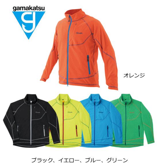 がまかつ ファインフリースジャケット GM-3501 オレンジ Mサイズ (お取り寄せ商品) / セール対象商品 (7/2(月) 12:59まで)