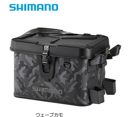 シマノ ロッドレスト ボートバッグ (ハードタイプ) BK-007R 32L ウェーブカモ (S01) (O01)