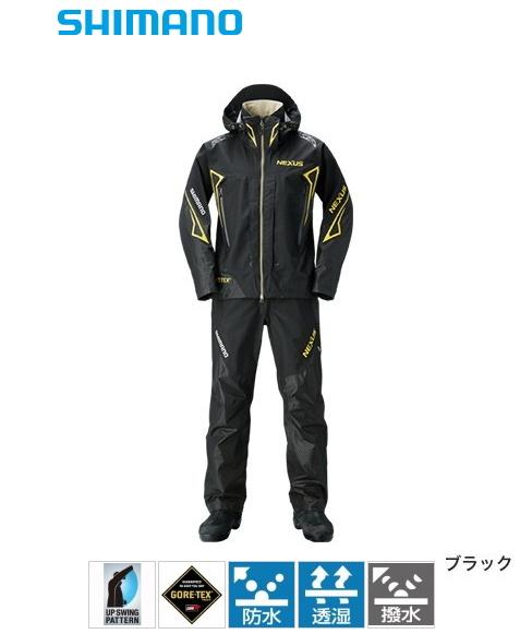 シマノ NEXUS (ネクサス) ゴアテックス レインスーツ EX RA-119R ブラック XL(LL)サイズ / レインウェア (送料無料) (S01) (O01)