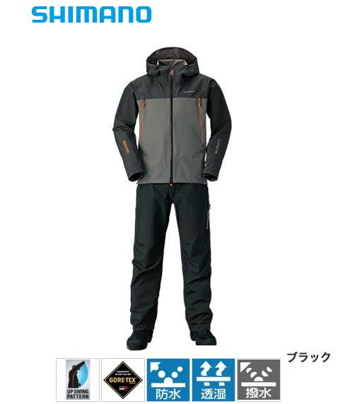 シマノ ゴアテックス (R) ベーシックスーツ RA-017R ブラック Lサイズ / レインウェア レインスーツ (送料無料) (S01) (O01) / セール対象商品 (5/7(火)12:59まで)