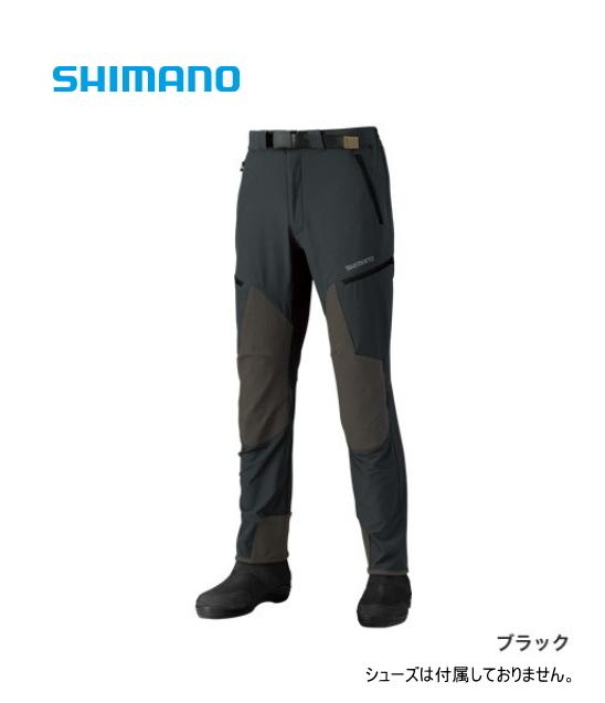シマノ 撥水ストレッチパンツ PA-041R ブラック XSサイズ(送料無料) (S01) (O01)