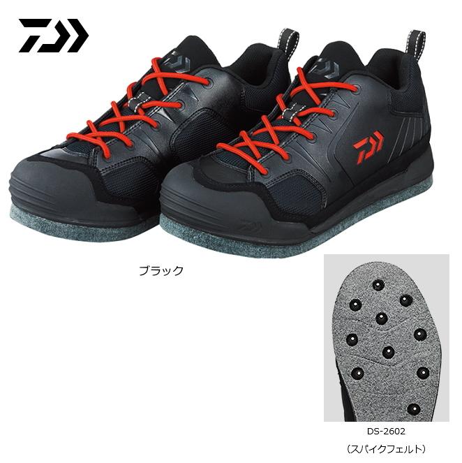 ダイワ フィッシングシューズ DS-2602 ブラック 25.5cm (D01) (O01) / セール対象商品 (12/26(木)12:59まで)