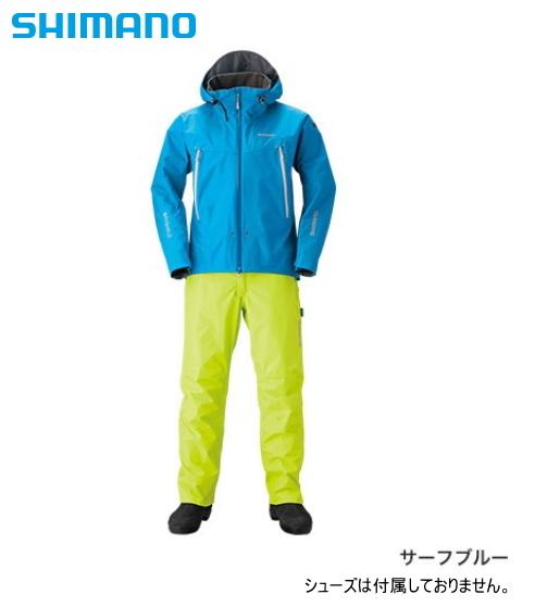 シマノ DSアドバンススーツ RA-025Q サーフブルー 3XL(4L)サイズ / レインウェア レインスーツ (送料無料) (S01) (O01)