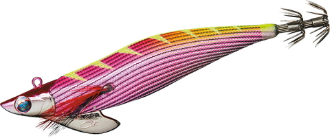 ティップランエギング専用エギ 値引き メール便対応 ダイワ エメラルダボート2 RV 5 ピンク-縞ピンクオレンジイエロー杉 ラトルバージョン 卓抜 3.0号-35g