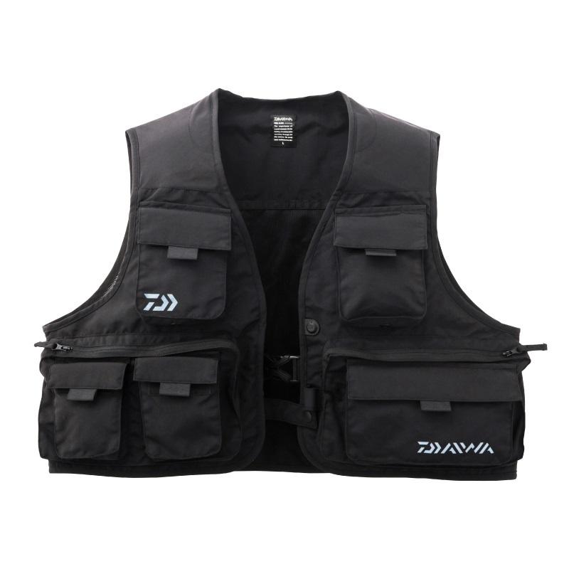 即納送料無料! 小分け収納に便利なポケット構造を備え幅広い釣種に対応 年間定番 ダイワ フィッシングベストDV-3408 ブラック