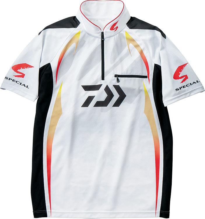 ダイワ◇DE-71009スペシャル アイスドライジップアップ半袖メッシュシャツ(ホワイト)◇