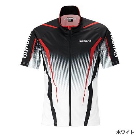 シマノ◇フルジッププリントシャツ(半袖) SH-052S(ホワイト)◇