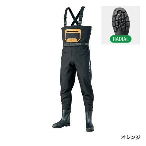シマノ◇アドバンスウェーダー(ラジアルソール)FF-044S(オレンジ)◇