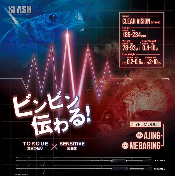 【SLASH】CLEAR VISION(クリアービジョン)CV-782ST-M