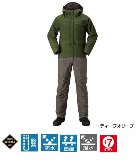 【送料無料】【シマノ】RB-214Q XEFO GORE-TEX(R) COZY SUIT ディープオリーブ  Lサイズ