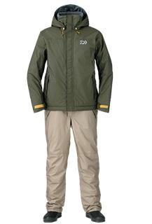 【ダイワ】DW-3507 レインマックスR ハイロフトウィンタースーツ カーキ XLサイズ