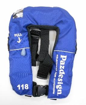 【送料無料】【パズデザイン(Pazdesign)】 PFL-002 インフレータブル ライフジャケットIII ブルー