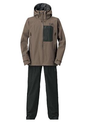 【送料無料】【ダイワ】DR-1608 ゴアテックスプロダクト パックライト(R)レインスーツ ウッドブラウン Lサイズ