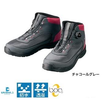 【シマノ】FS-082R ドライシールド・デッキラジアルフィットシューズ HW チャコールグレー 25cm