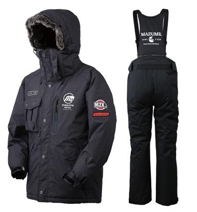 【マズメ】MZXFW-065 MZX コアオールウェザースーツ POP V  ブラックヘリンボーン  Mサイズ