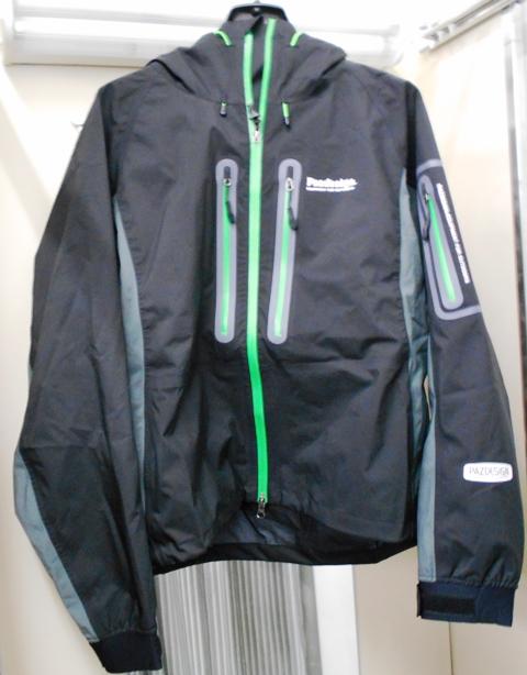 【パズデザイン】SBR-038 BSストレッチウェーディングジャケット ブラック/グリーン  Lサイズ