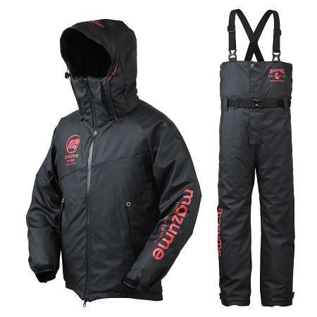 【mazume】MZFW-384  mazumeラフウォーター オールウェイザースーツ  ブラックXレッド Lサイズ
