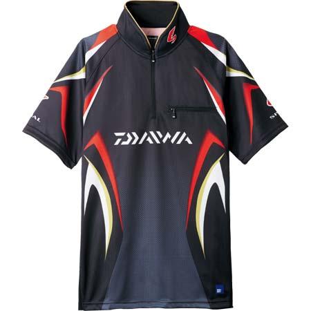 【ダイワ(Daiwa)】スペシャル アイスドライ ジップアップ半袖メッシュシャツ DE-7107 ブラック M