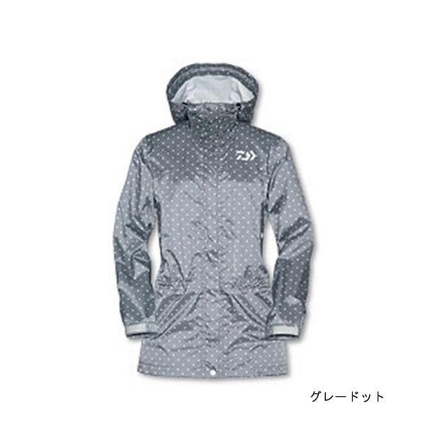 【旧モデル】【ダイワ(Daiwa)】DR-3801J レインマックス100レインハーフコート WM グレードット (タグにシール跡有)